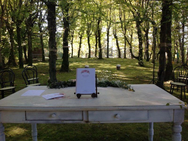 cerimonia matrimonio nel bosco