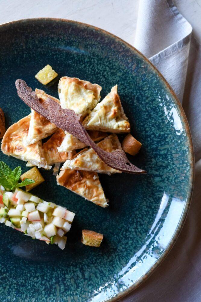 Tartare e cheesecake di asparagi